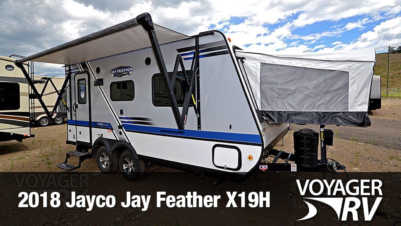 2018 Jayco Jay Feather X19H Hybrid Travel Trailer Video ...