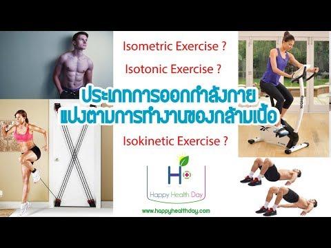 การออกกำลังกายแบ่งออกเป็น...ประเภท ( แบ่งตามการทำงานของกล้ามเนื้อ )