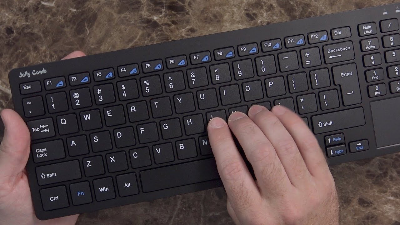 969da173b17 Wireless Keyboard with Trackpad and 10-Key from Jelly Comb - YouTube