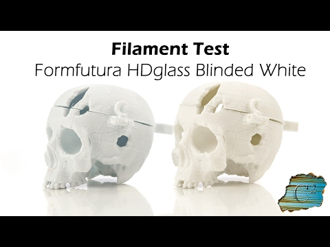 Filament Test: Formfutura HDglass Blinded White (Wanhao i3 Plus)