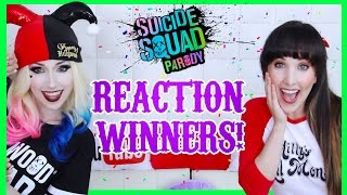 VIDEO REACTION WINNERS! - SUICIDE SQUAD PARODY