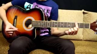 Nirvana - On a Plain - Как играть на гитаре - How to play on Guitar.