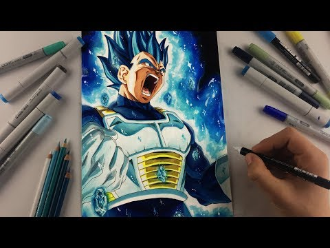 Drawing Vegeta NEW FORM| BEYOND Super Saiyan Blue