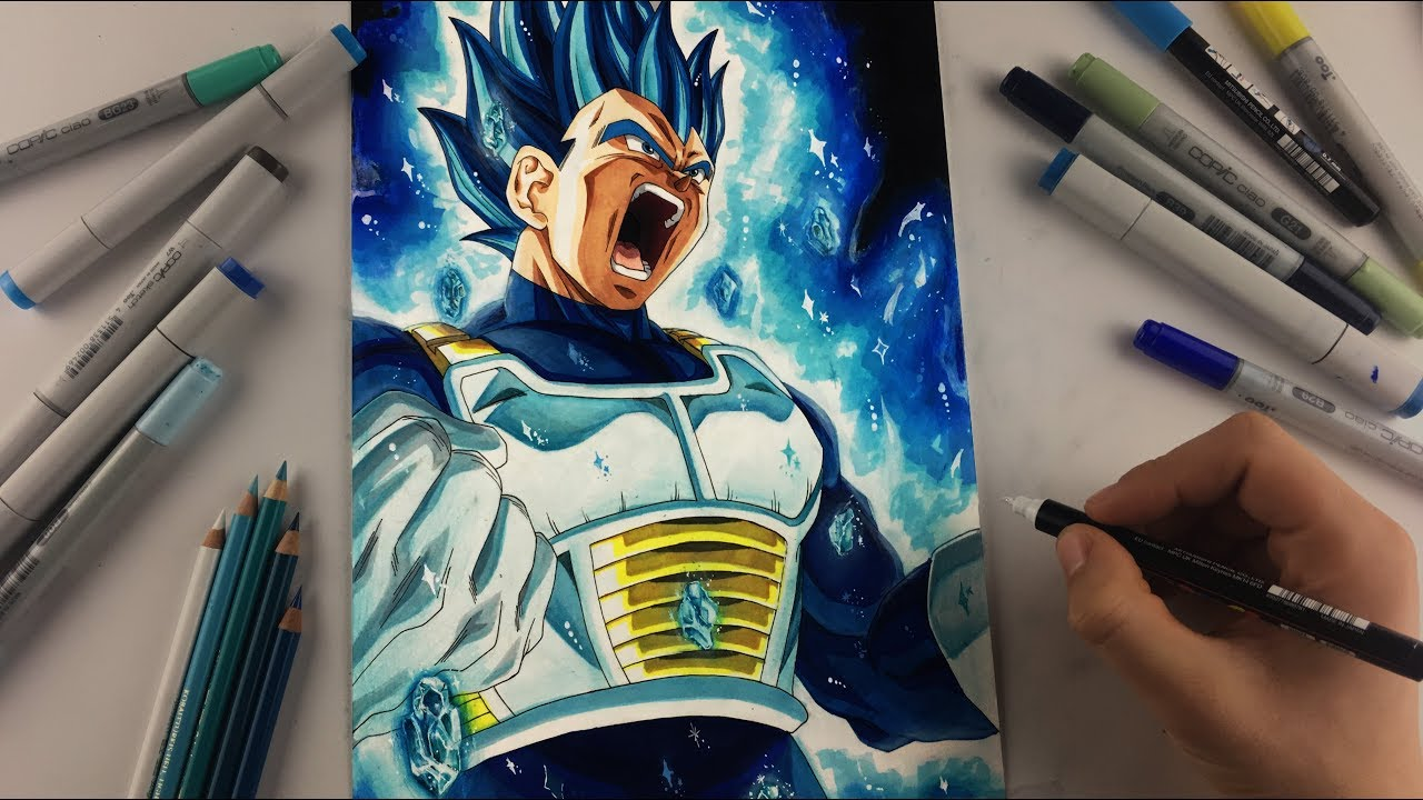 Drawing Vegeta New Form Beyond Super Saiyan Blue Youtube