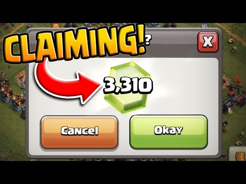 Collecting OVER 3300 FREE GEMS ($23 VALUE) In Clash Of Clans!