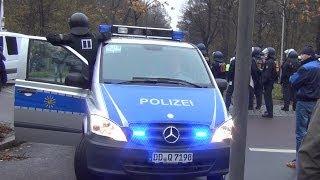 Polizei Großeinsatz RB Leipzig vs FC Hansa Rostock