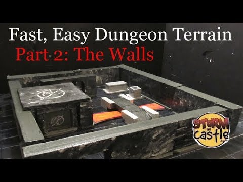 Fast and Easy Dungeon Building Part 2: Make the Walls and accessories