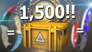 i opened 1500 csgo prisma cases and you wont believe what happened.