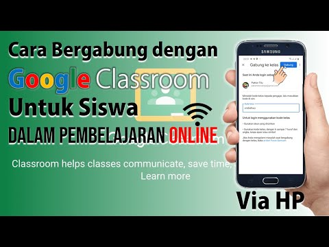 Cara Gabung dengan Google Classroom dari HP untuk Siswa