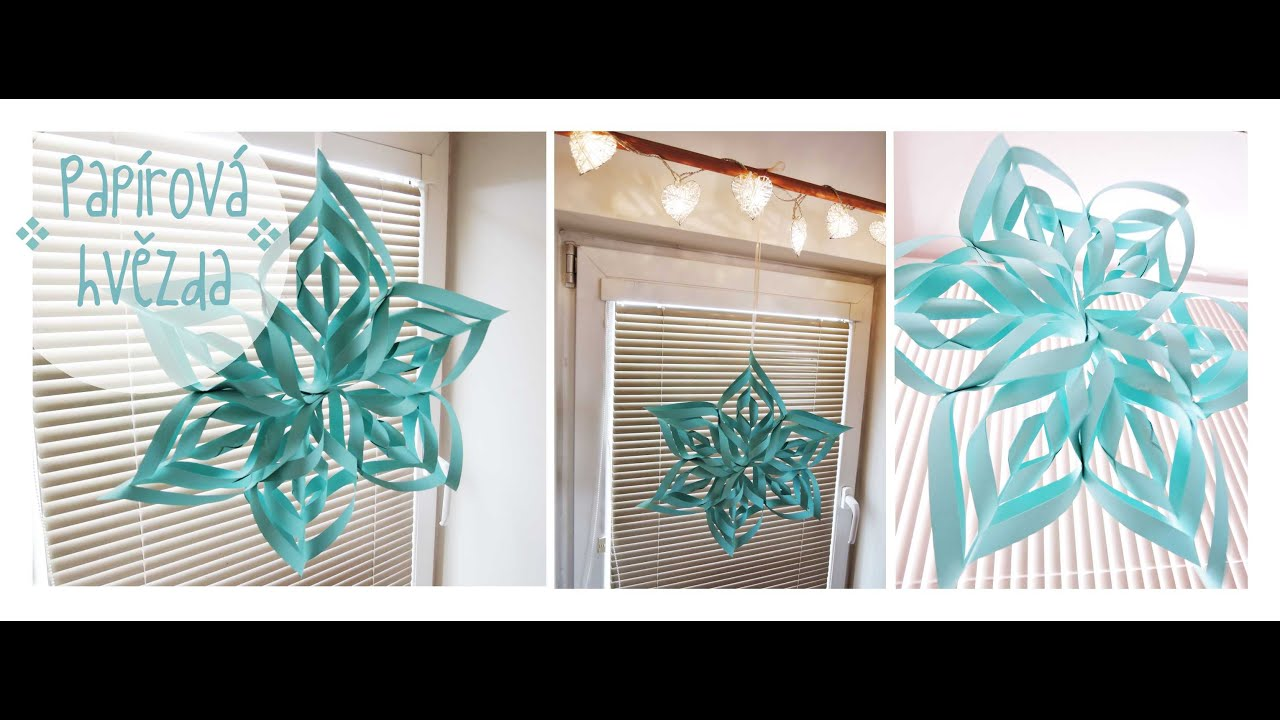 Easy homemade paper christmas decorations - Pap Rov Hv Zda Easy Diy Paper Star Diy Christmas Decorations Youtube