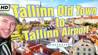 Walking from Tallinn Old Town to Tallinn Airport early one morning - Estonia Travel Guide