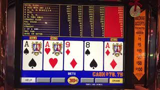 Triple Double Bonus Poker Win