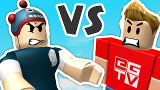 Roblox - THEDIAMONDMINECART vs ETHANGAMERTV - WHO WILL WIN??
