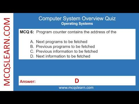 Computer System Overview Quiz - MCQsLearn Free Videos