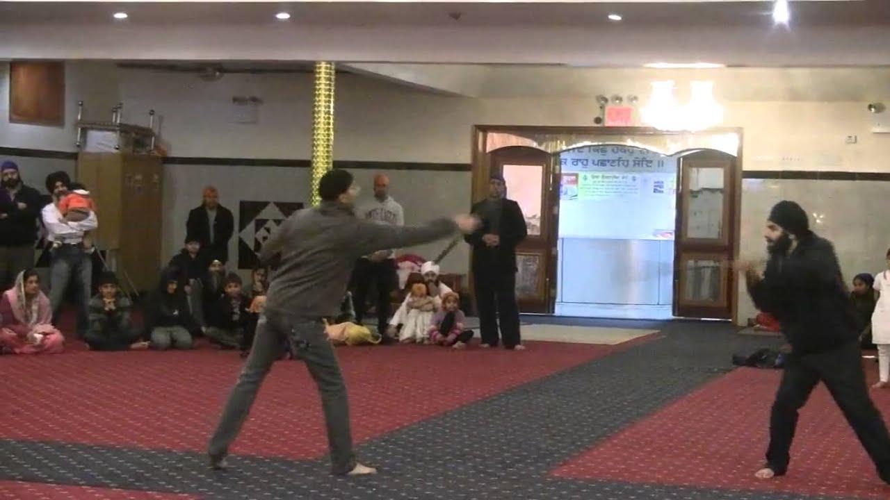 Part 02-Gatka at Gurdwara Baba Makhan Shah Lubana Sikh Center NY