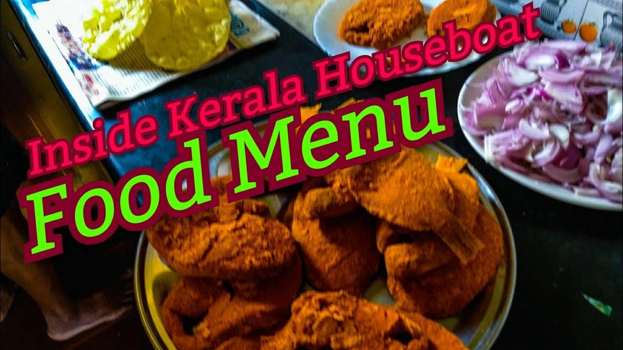 Kerala Houseboat Food Menu