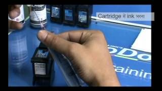 How to refill HP 802 818 inkjet cartridge (Hindi Version)