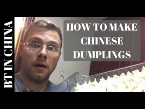 How to Make Chinese Dumplings  (饺子) with Sichuan Mother in Law