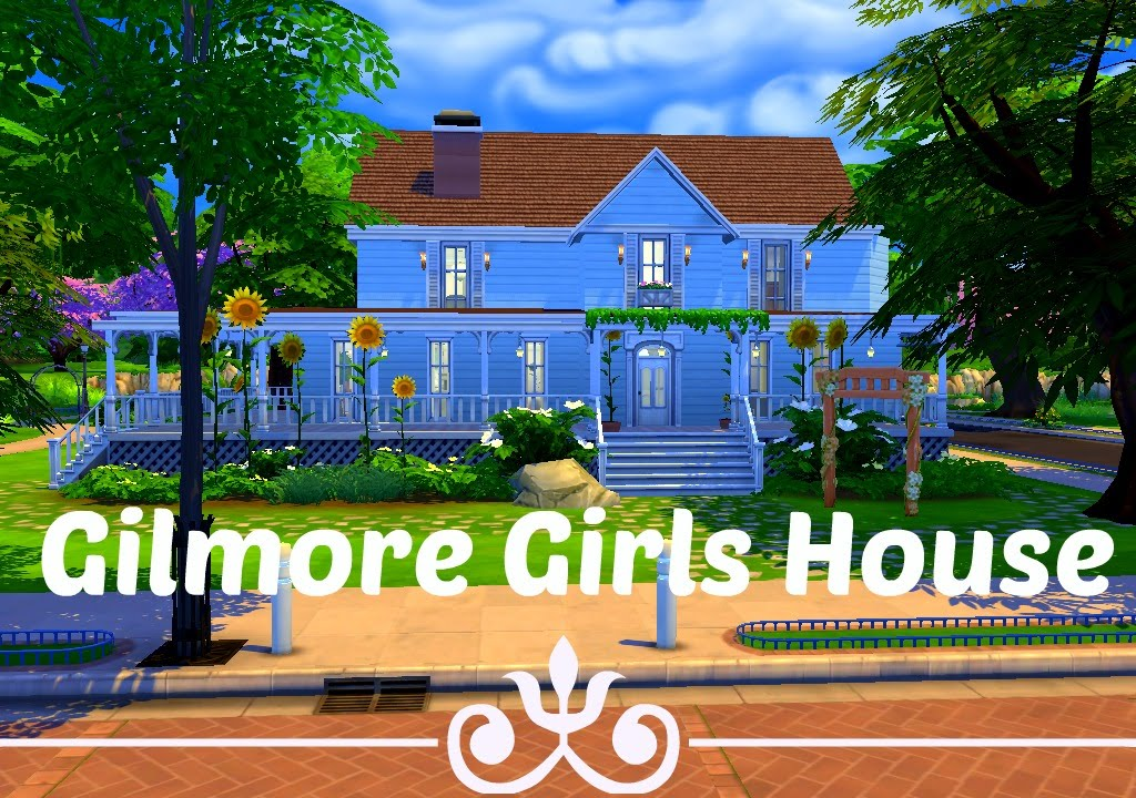 Gilmore Girls House the sims 4 house building - gilmore girls (tv show edition) - youtube