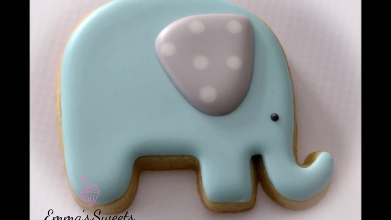 How To Make An Elephant Cookie By Emmas Sweets Youtube