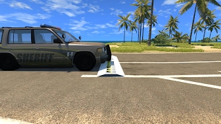 Spike Strip Testing 15 - BeamNG.Drive Car Accident