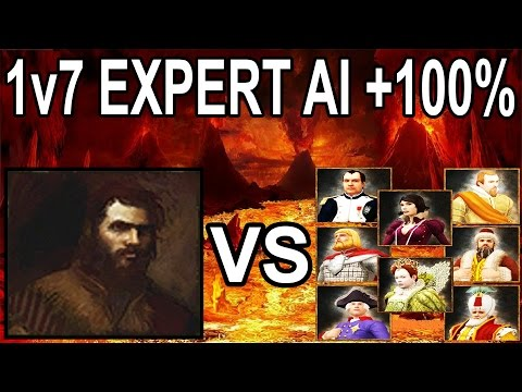 🌟Age of Empires 3 Aklak vs 7x EXPERT AIs with +100℅ Handicap!