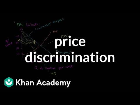 First degree price discrimination   Microeconomics   Khan Academy