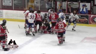21 Oct Laval Vs Sorel -Hockey Bench Brawl -  General   LNAH 1st Camera Angle