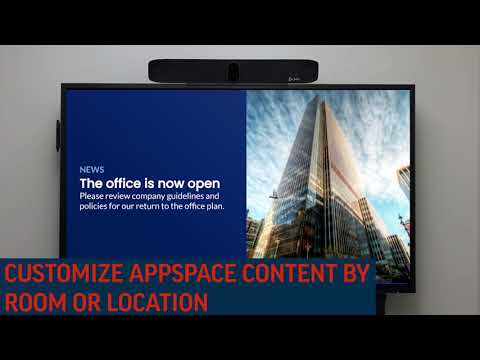 Poly and Appspace: Dynamic Digital Signage