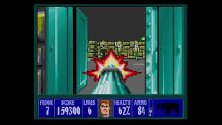 Wolfenstein 3D Playthrough Mission 2 Floor 7