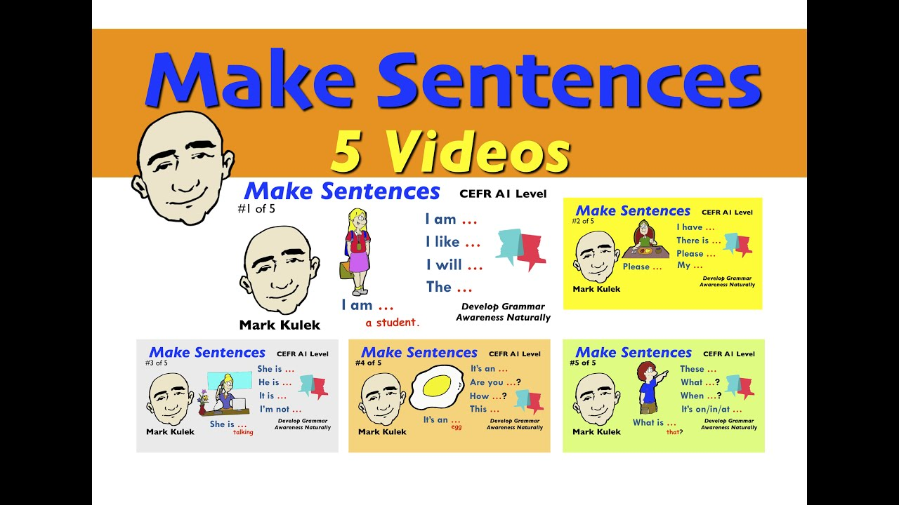 Learn to Make Sentences - CEFR A1 level | English for Communication - ESL