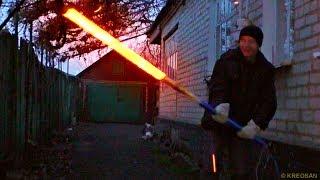 ✅На что способен САМОДЕЛЬНЫЙ огненный меч Джедая из Звёздных войн