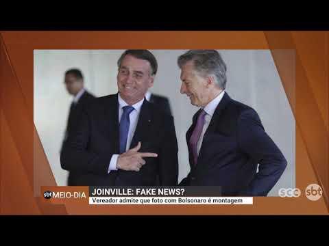 Fake news em Joinville? Vereador admite que foto com Bolsonaro é montagem