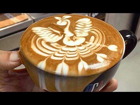 Amazing Cappuccino Latte Art Skills 2018☕️