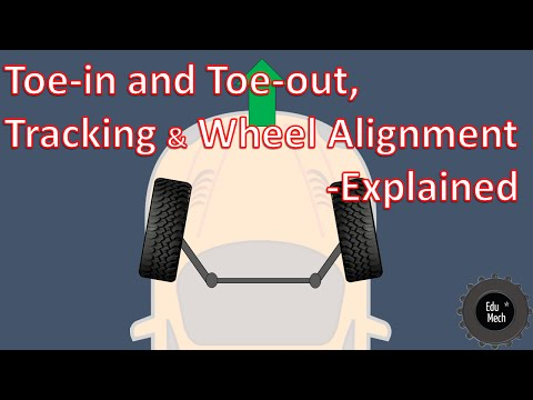 Toe-in and Toe-out, Wheel alignment Explained - How it works.