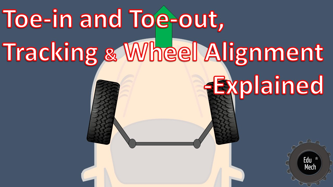 Toe-in and Toe-out, Wheel alignment Explained - How it works