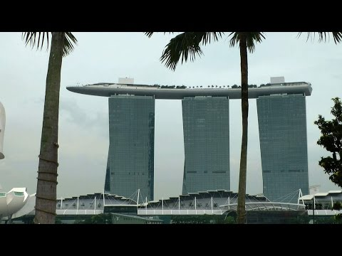 Singapore - downtown cityscapes at Marina Bay waterfront pro