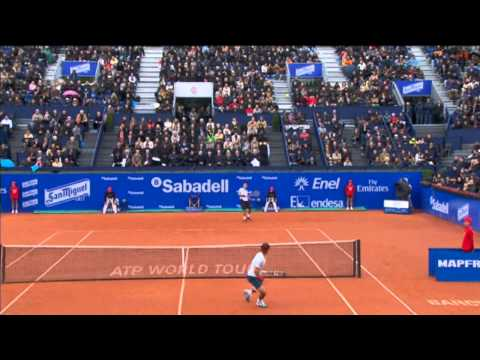 Nadal's Hot Shot Tweener In 2013 Barcelona Final