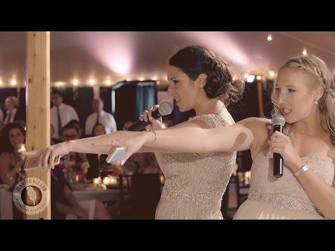 Bride's sisters mashup best wedding toast ever