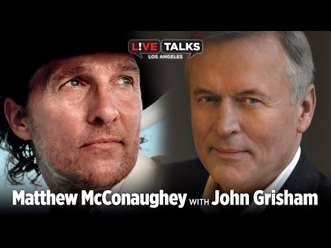 Matthew McConaughey in conversation with John Grisham at Live Talks Los Angeles
