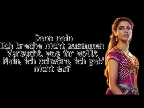 Julia Scheeser - Ich Werd Niemals Schweigen Lyrics (Aladdin)