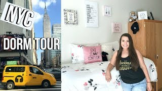 NEW YORK CITY COLLEGE DORM TOUR | Fall 2017 | Jackie Ann