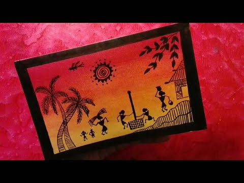 How to draw warli art very easy without paints