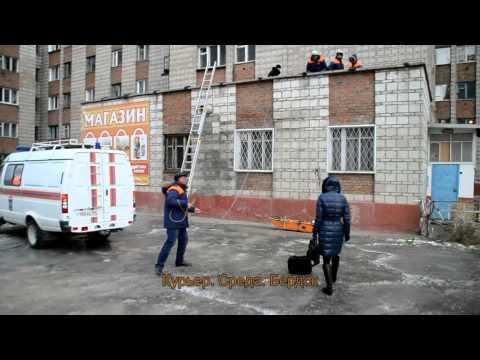 Женщина разбилась насмерть, спрыгнув с 6 этажа 'общаги' на крышу магазина в Бердске