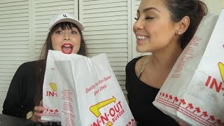 In N Out 🍔 Taste Test StORY TiME | Mukbang 먹방 Eating Show