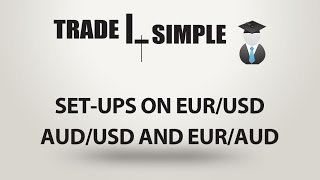 Learn Forex - Trade set-ups on EUR/USD AUD/USD and EUR/AUD 04.01.2017