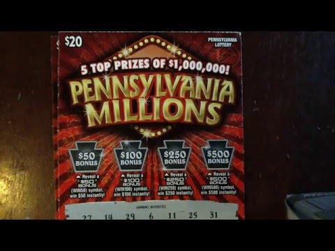 (3) $20 Pennsylvania Millions - PA Lottery - Scratcher