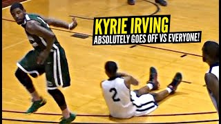 Kyrie Irving Gets CHALLENGED & Then DESTROYS Everyone!! Displays DEADLY Handles In Pick Up Game!