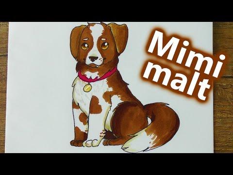 HUND malen lernen | Wie malt man einen niedlichen Hund? | Mimi mal im DIY Inspiraiton Kids Club