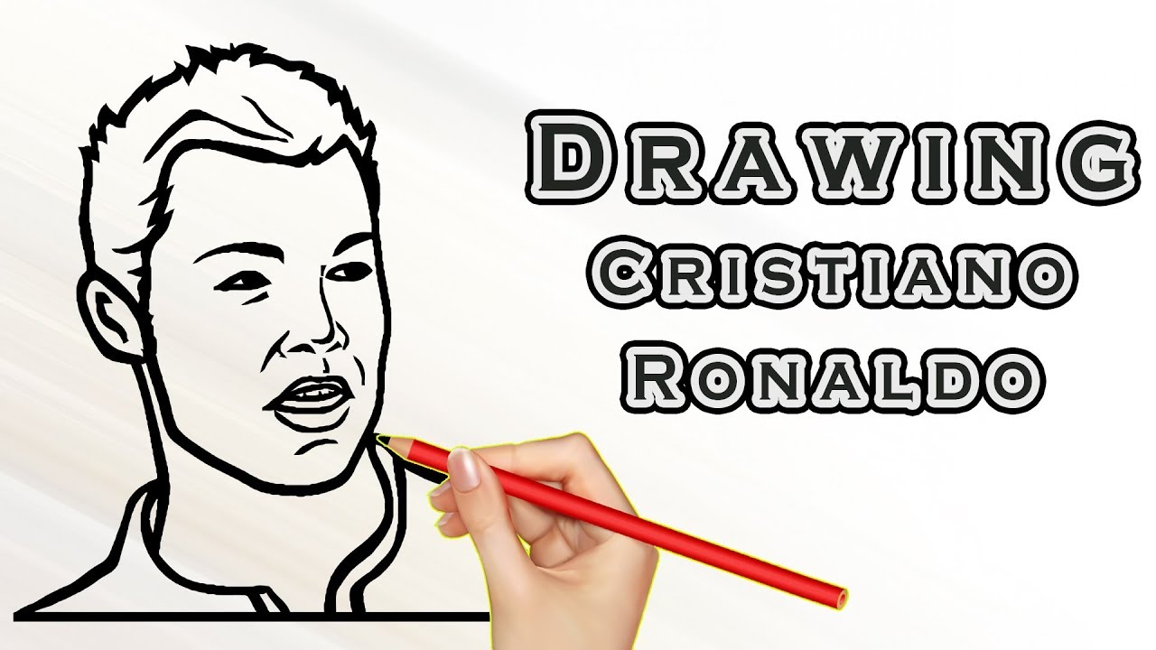 Drawing Cristiano Ronaldo Draw Easy For Kids Drawing Famous